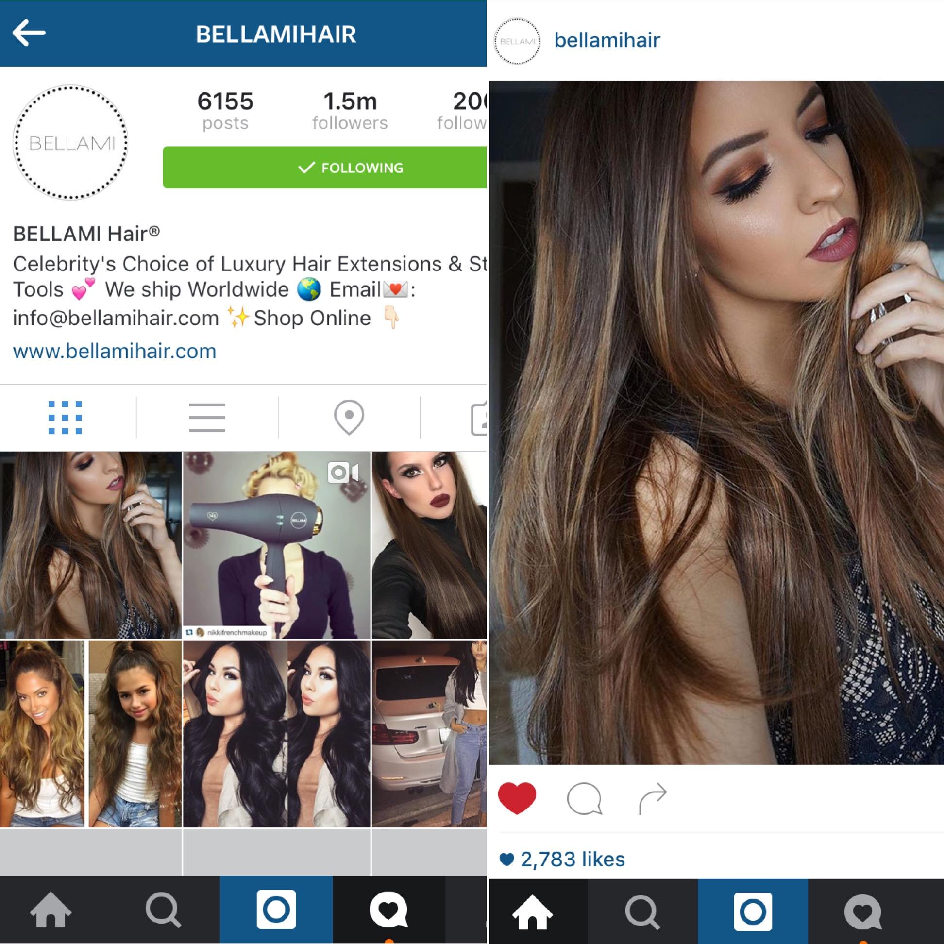 Bellami Hair Instagram Feature