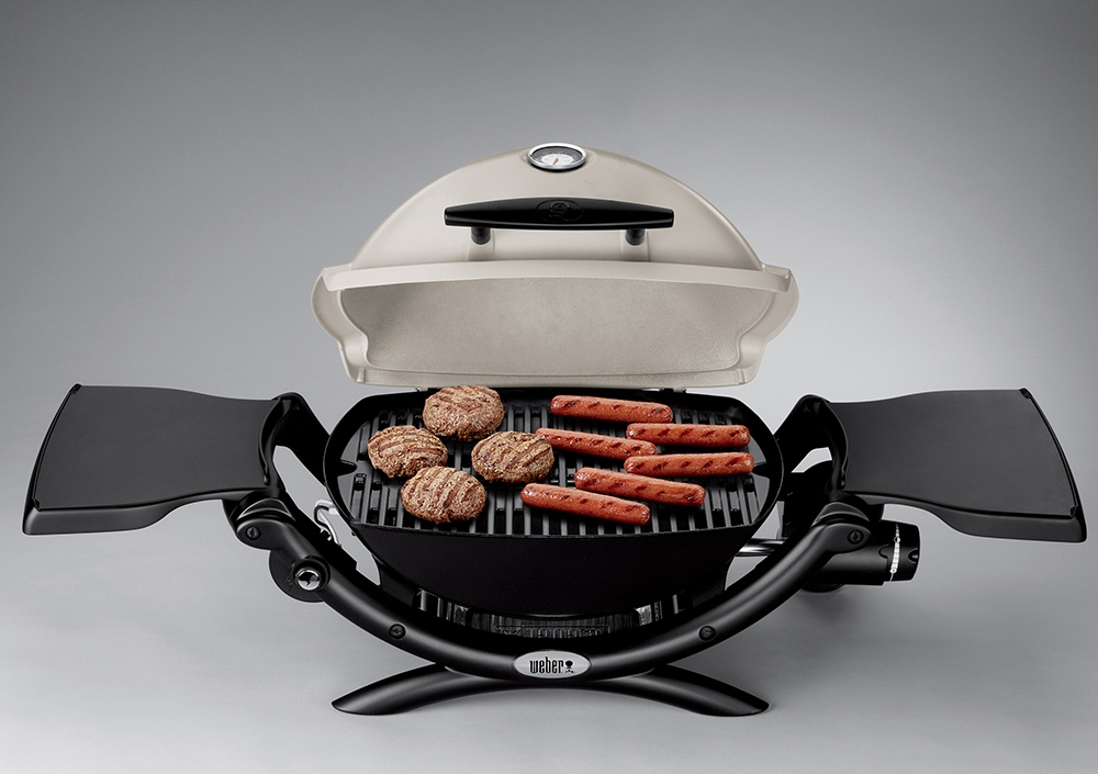 Weber Q 1200 Portable Gas Grill   Whether dad travels on or off the beaten path, camps in the woods or near the shore, dad will explore the world with big taste and his Weber Q 1200 portable gas grill by his side.