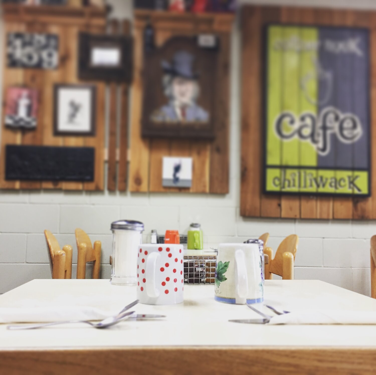 """Corner Nook Cafe and it's """"Shabby Chic done Diner style"""" Decor"""
