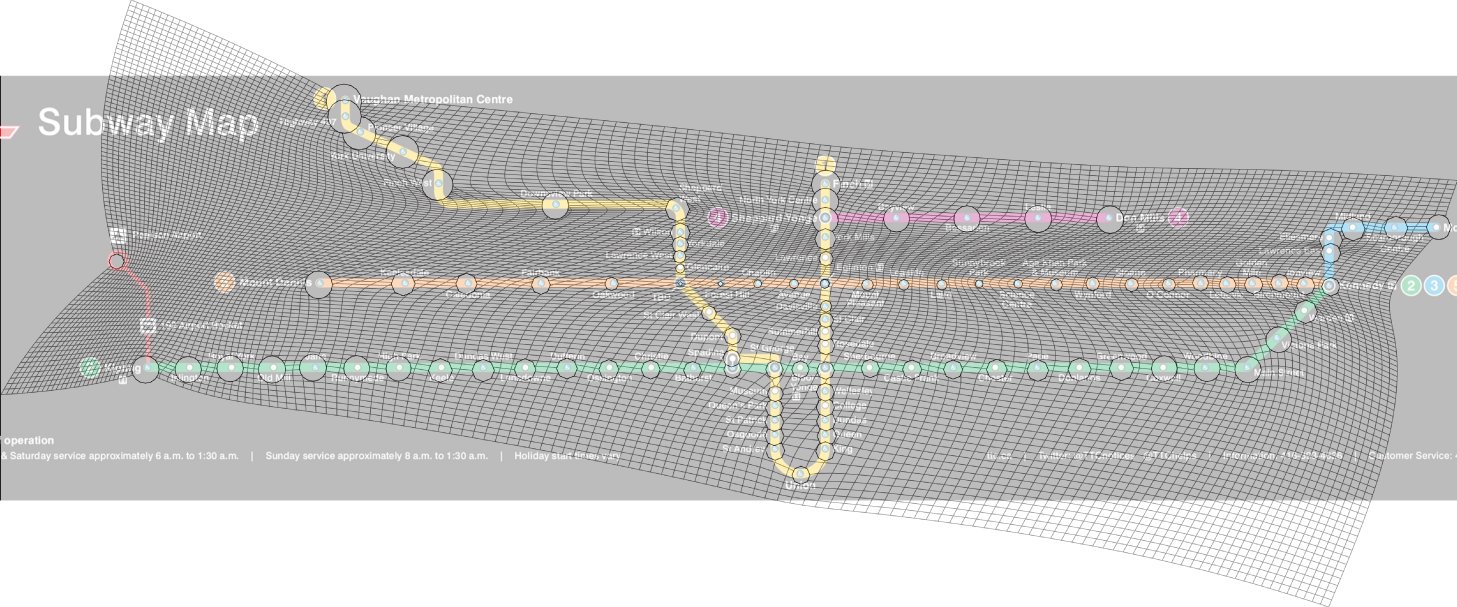 Toronto Subway Map Overlay.The Newest Ttc Map On Paper Vs Reality Mapto