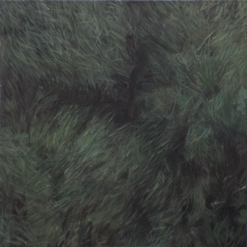Lawn , 2015, oil on canvas, 36 x 36