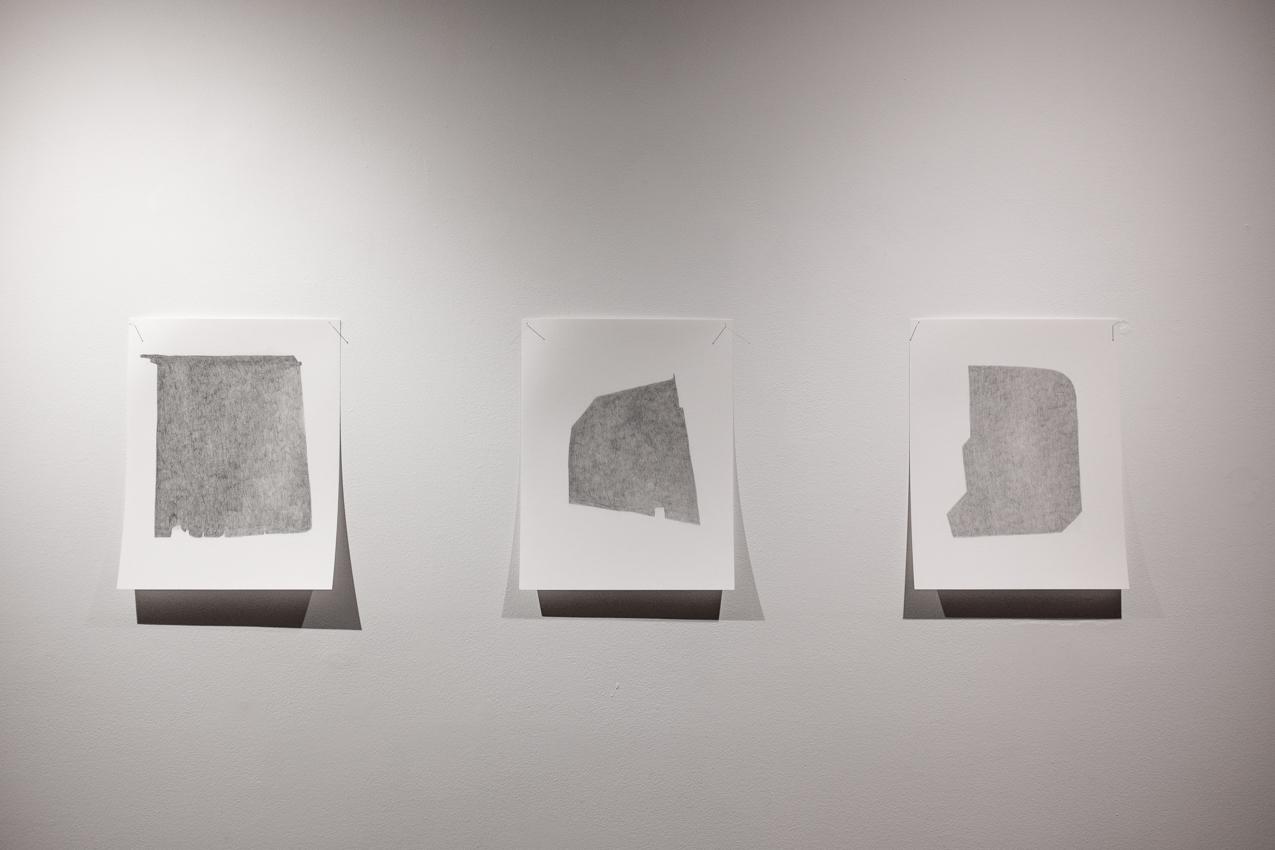 Hiding spot , 2016, 2016, Graphite on paper, 11 x 14 each