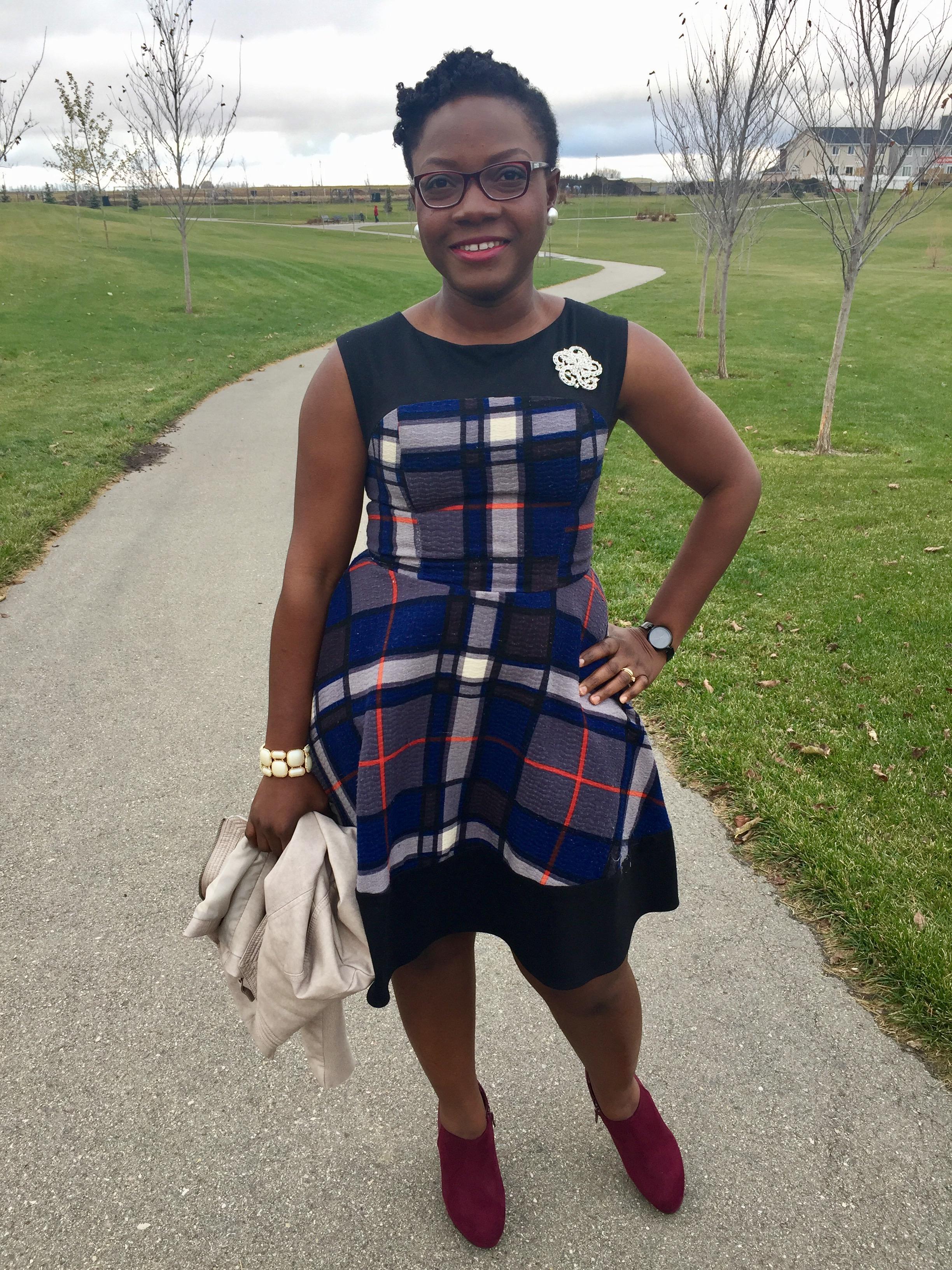 plaid dress-fall trends-www.thebrazencloset.com