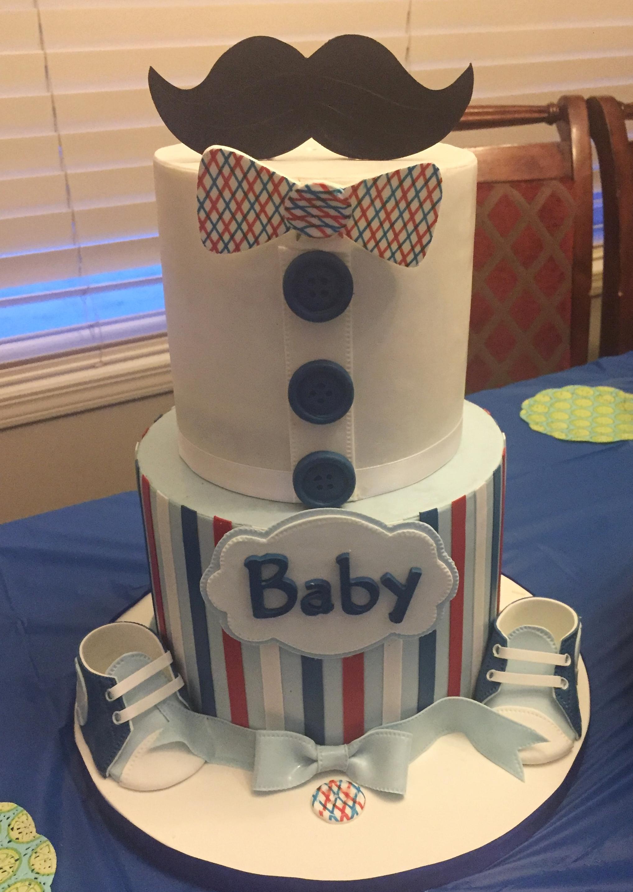 Baby Shower Cake by Terry  @GratedNutmeg