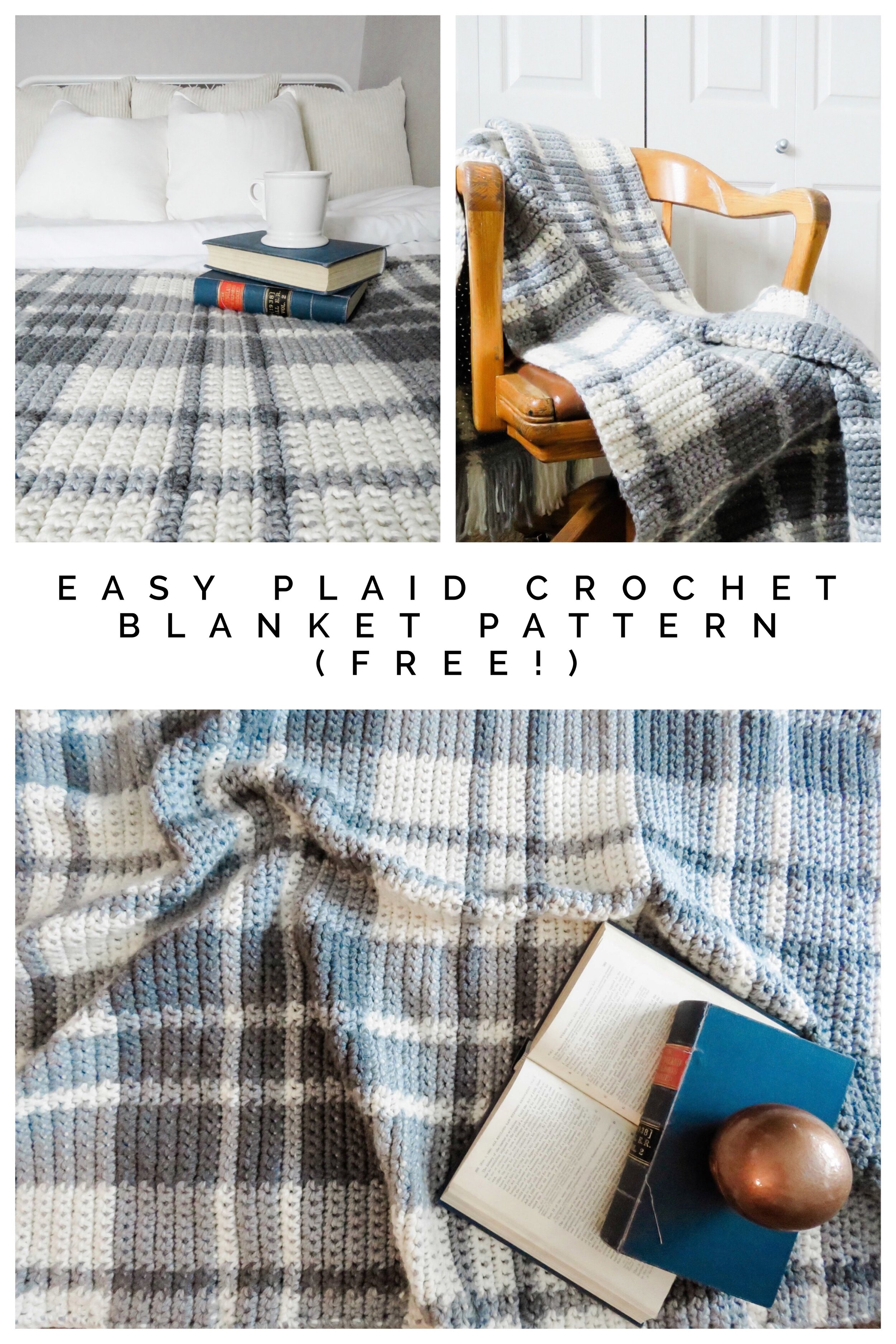Easy Plaid Crochet Blanket Pattern Free Callista Faye Creative