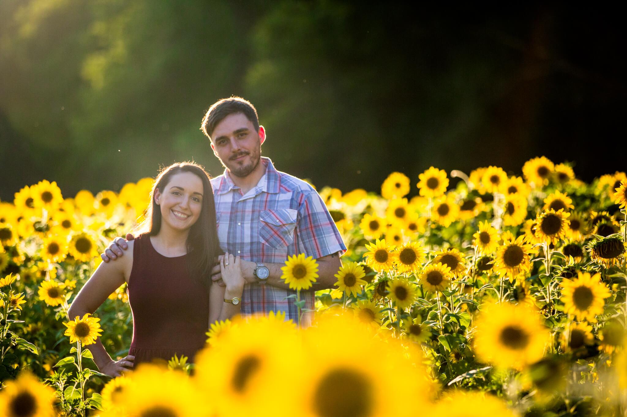 Alysia Jerad Sunflower Field Engagement-2.jpg
