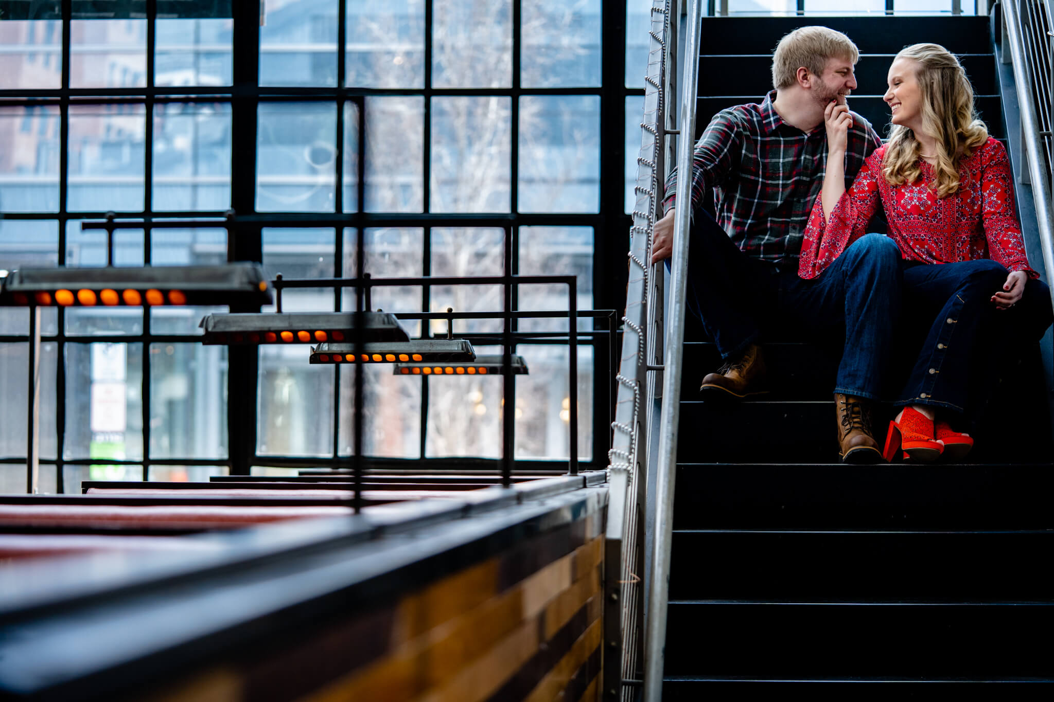 Britney Dan Bluejacket Brewery Engagement Washington DC The Wharf Engagement Flannel Beer-1.jpg