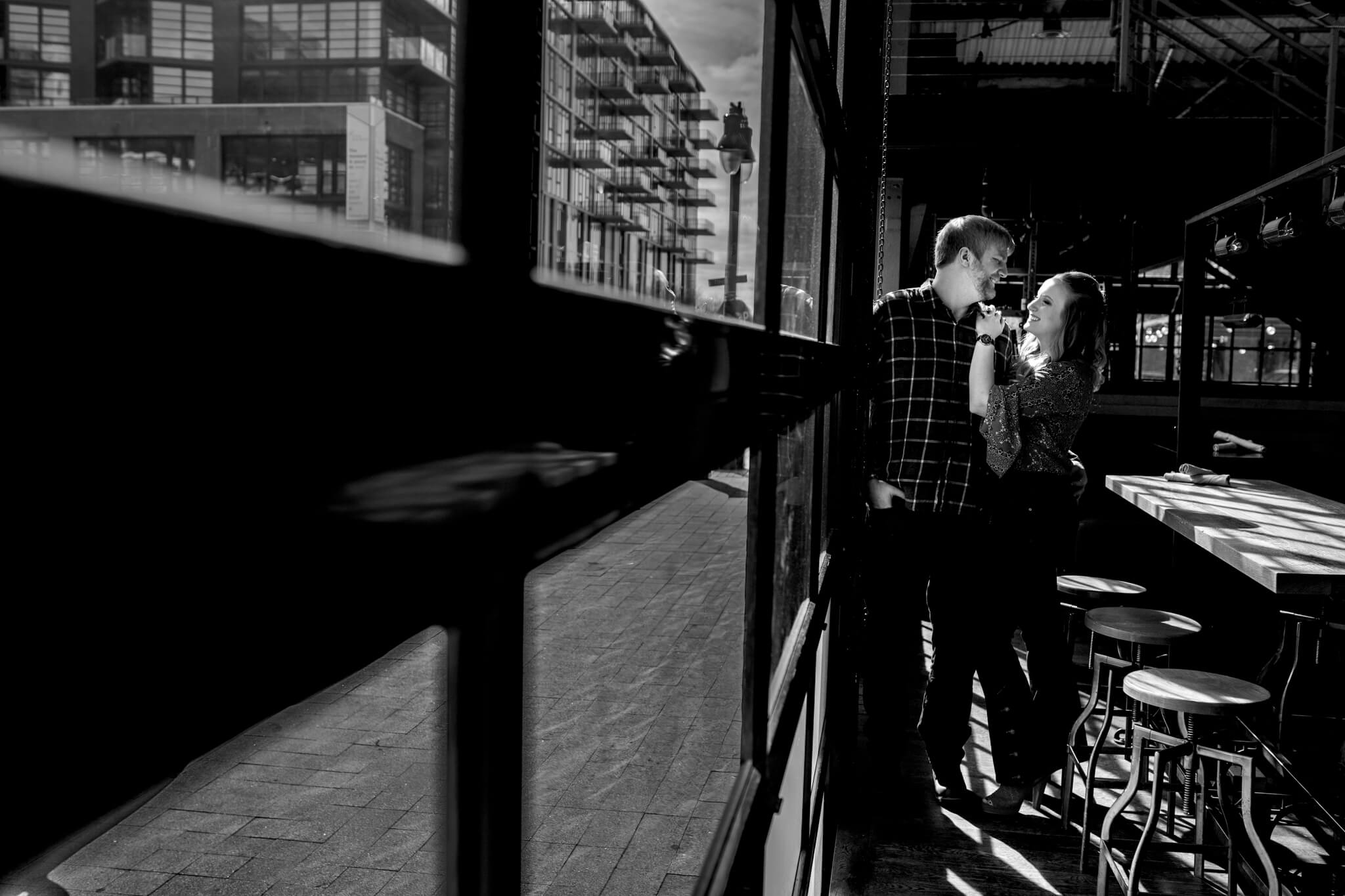 Britney Dan Bluejacket Brewery Engagement Washington DC The Wharf Engagement Flannel Beer-3.jpg