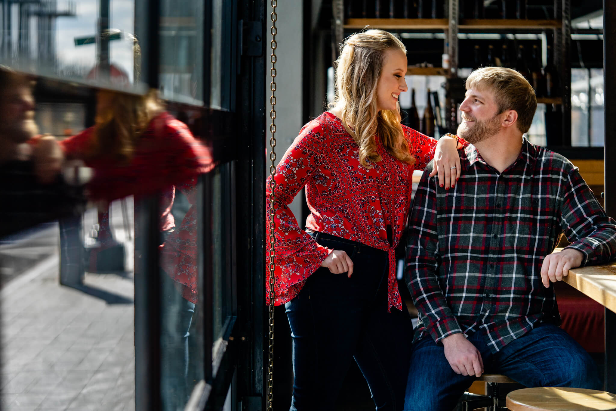 Britney Dan Bluejacket Brewery Engagement Washington DC The Wharf Engagement Flannel Beer-4.jpg