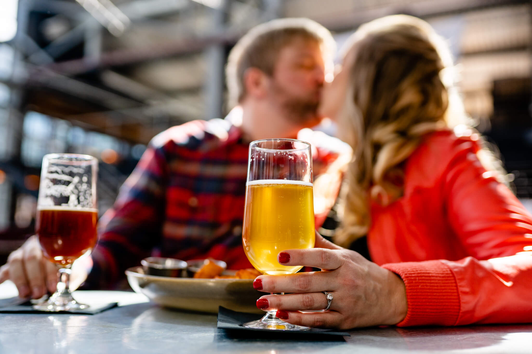 Britney Dan Bluejacket Brewery Engagement Washington DC The Wharf Engagement Flannel Beer-9.jpg