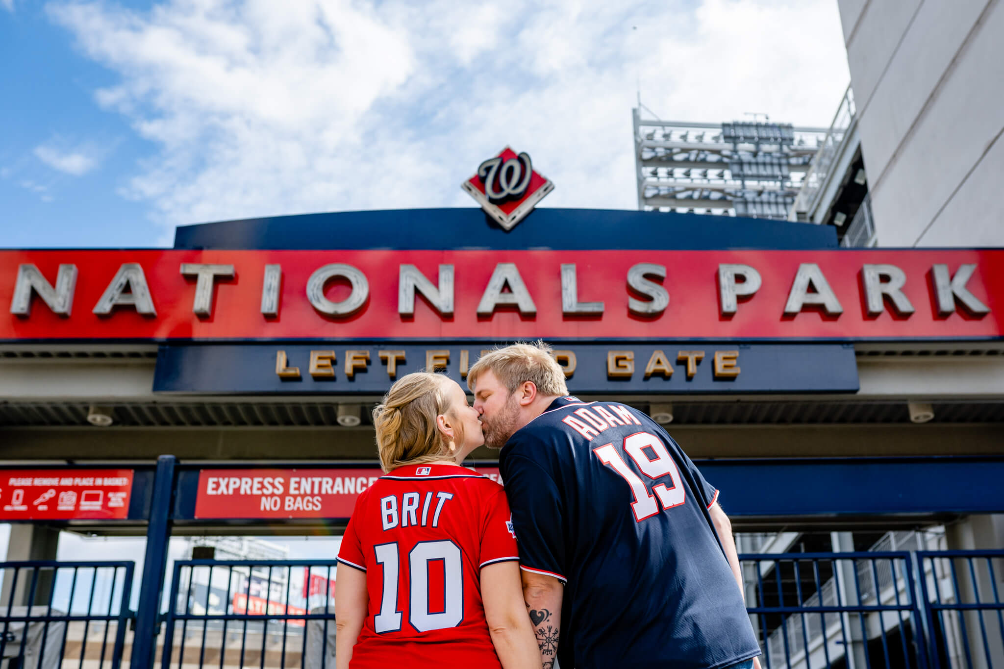 Britney Dan Bluejacket Brewery Engagement Washington DC The Wharf Engagement Flannel Beer-11Nationals Park Baseball.jpg