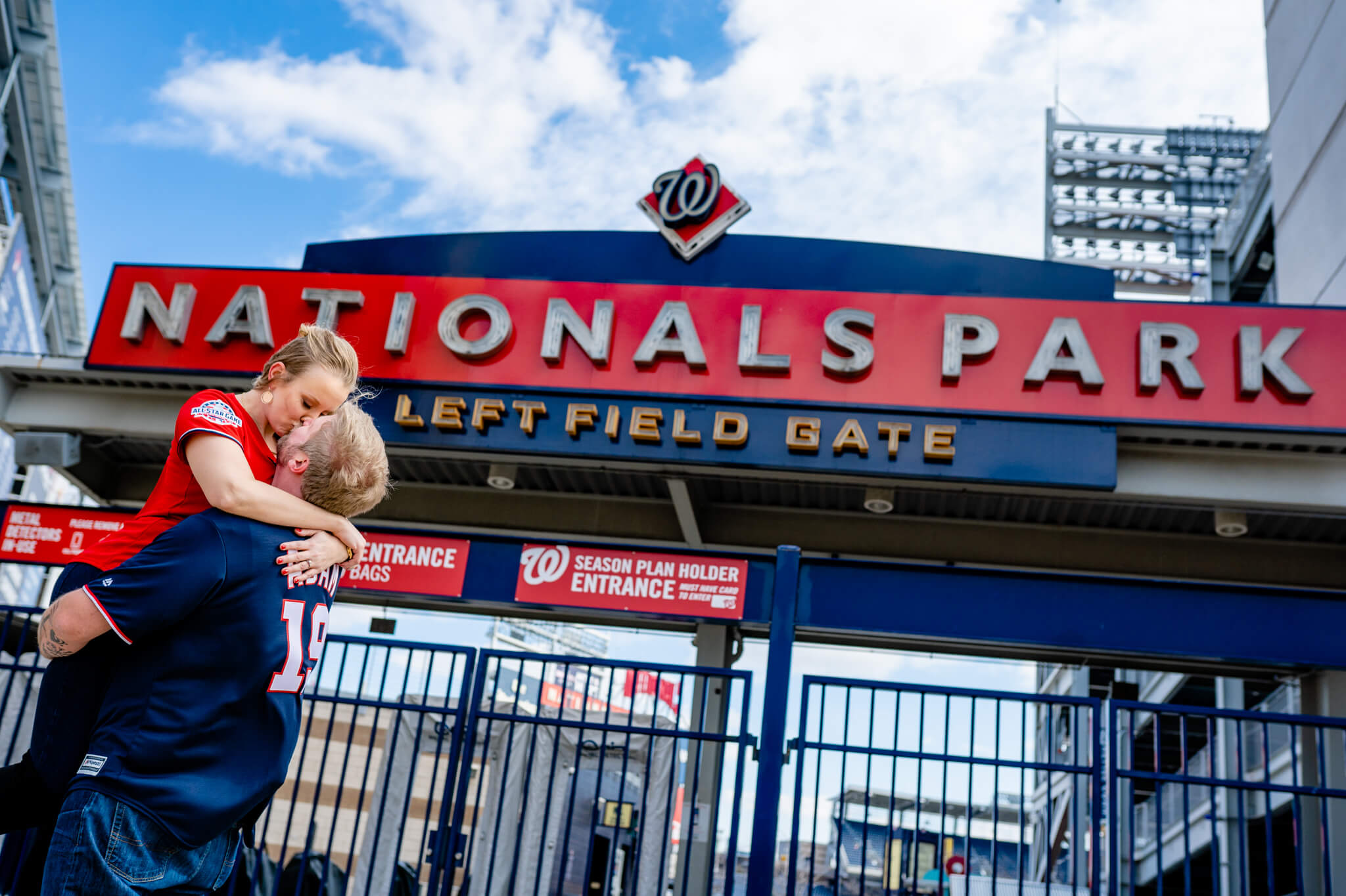 Britney Dan Bluejacket Brewery Engagement Washington DC The Wharf Engagement Flannel Beer-12Nationals Park Baseball.jpg