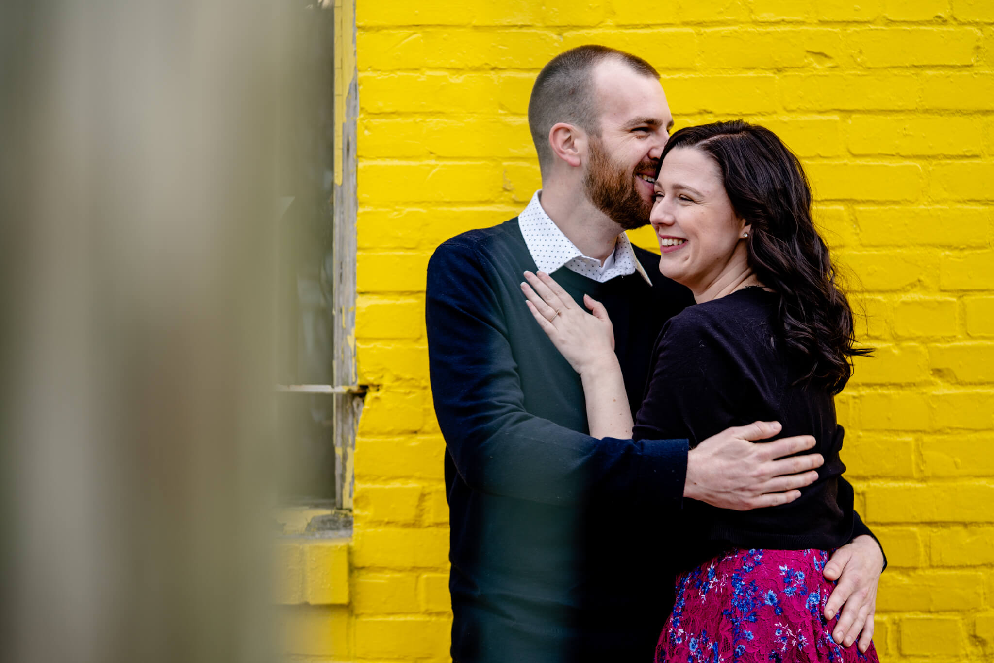 Kelly Matt Old Town Engagement Yellow Wall Alley Prince Street Wilkes Tunnel Alexandria Waterfront-2.jpg