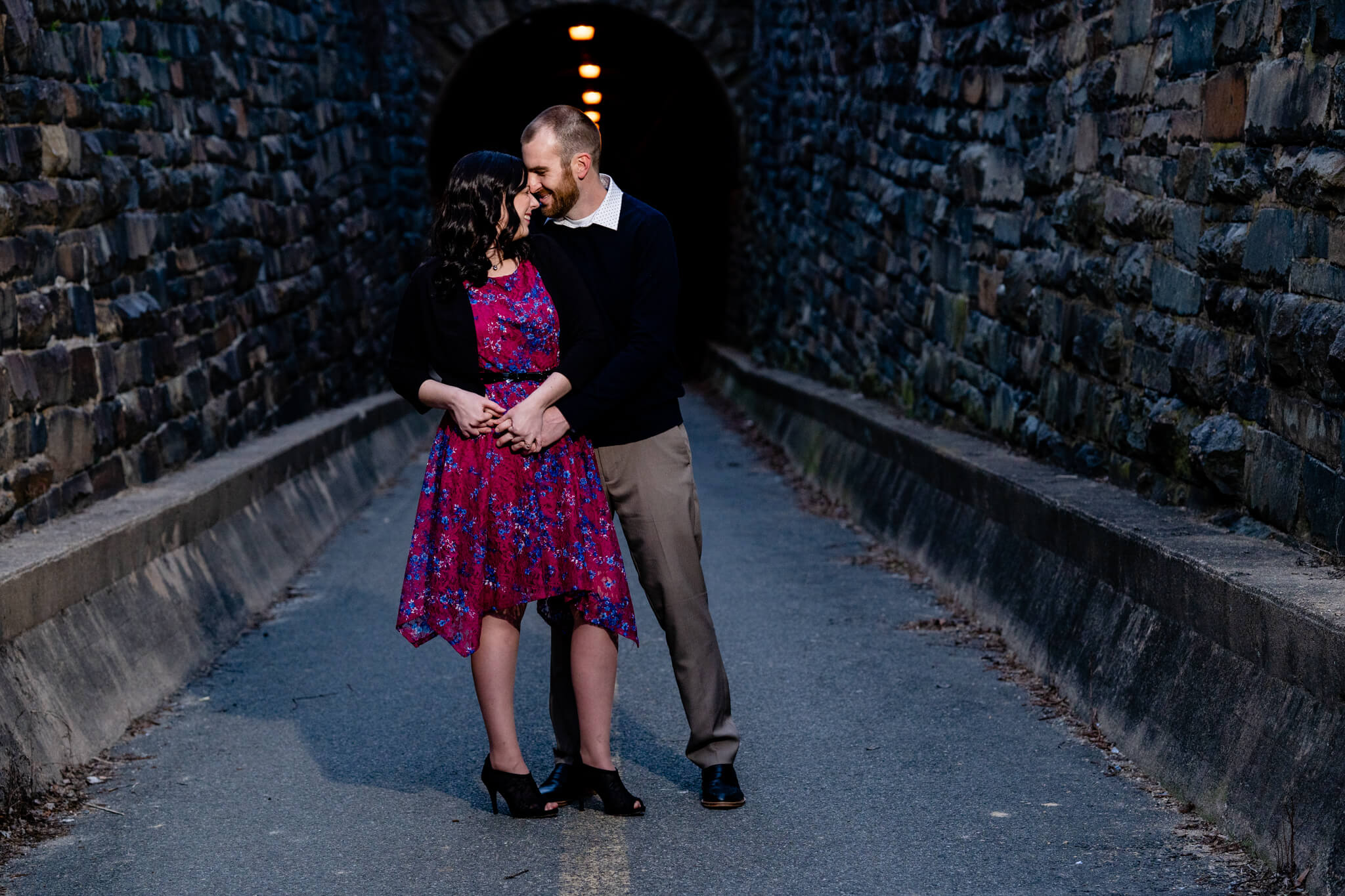 Kelly Matt Old Town Engagement Yellow Wall Alley Prince Street Wilkes Tunnel Alexandria Waterfront-6.jpg