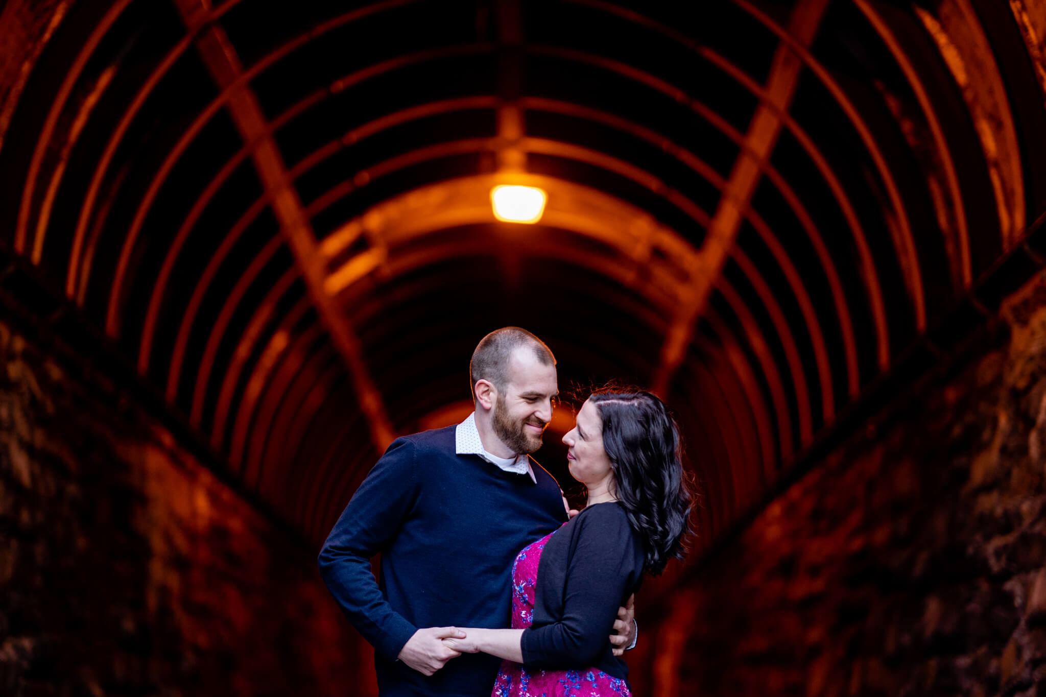 Kelly Matt Old Town Engagement Yellow Wall Alley Prince Street Wilkes Tunnel Alexandria Waterfront-7.jpg