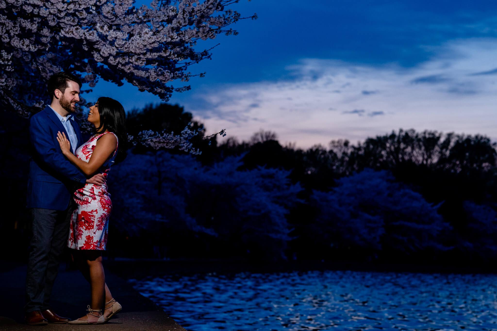 Danielle Michael DC Cherry Blossom Engagement Tidal Basin Washington Monument Engaged NYE Wedding Inspiration-2.jpg