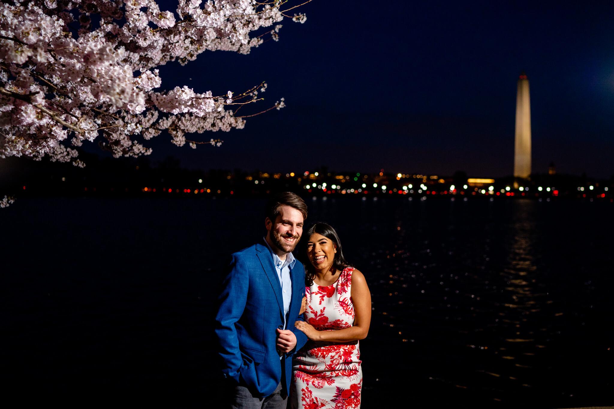 Danielle Michael DC Cherry Blossom Engagement Tidal Basin Washington Monument Engaged NYE Wedding Inspiration-4.jpg