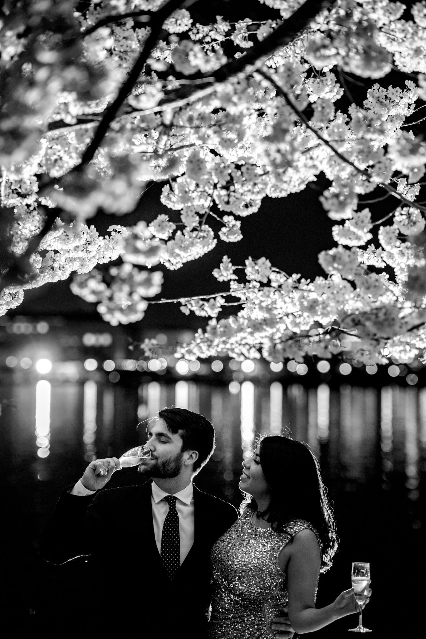 Danielle Michael DC Cherry Blossom Engagement Tidal Basin Washington Monument Engaged NYE Wedding Inspiration-9.jpg