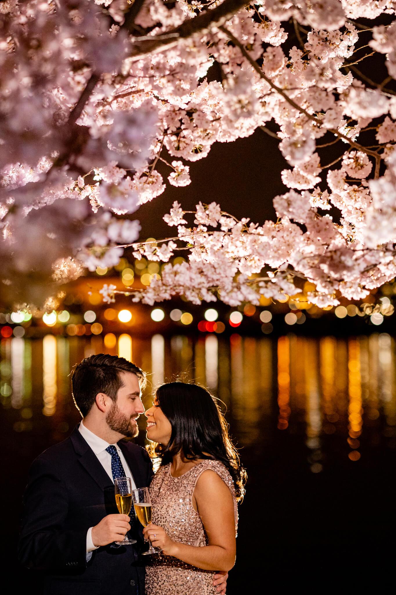 Danielle Michael DC Cherry Blossom Engagement Tidal Basin Washington Monument Engaged NYE Wedding Inspiration-10.jpg