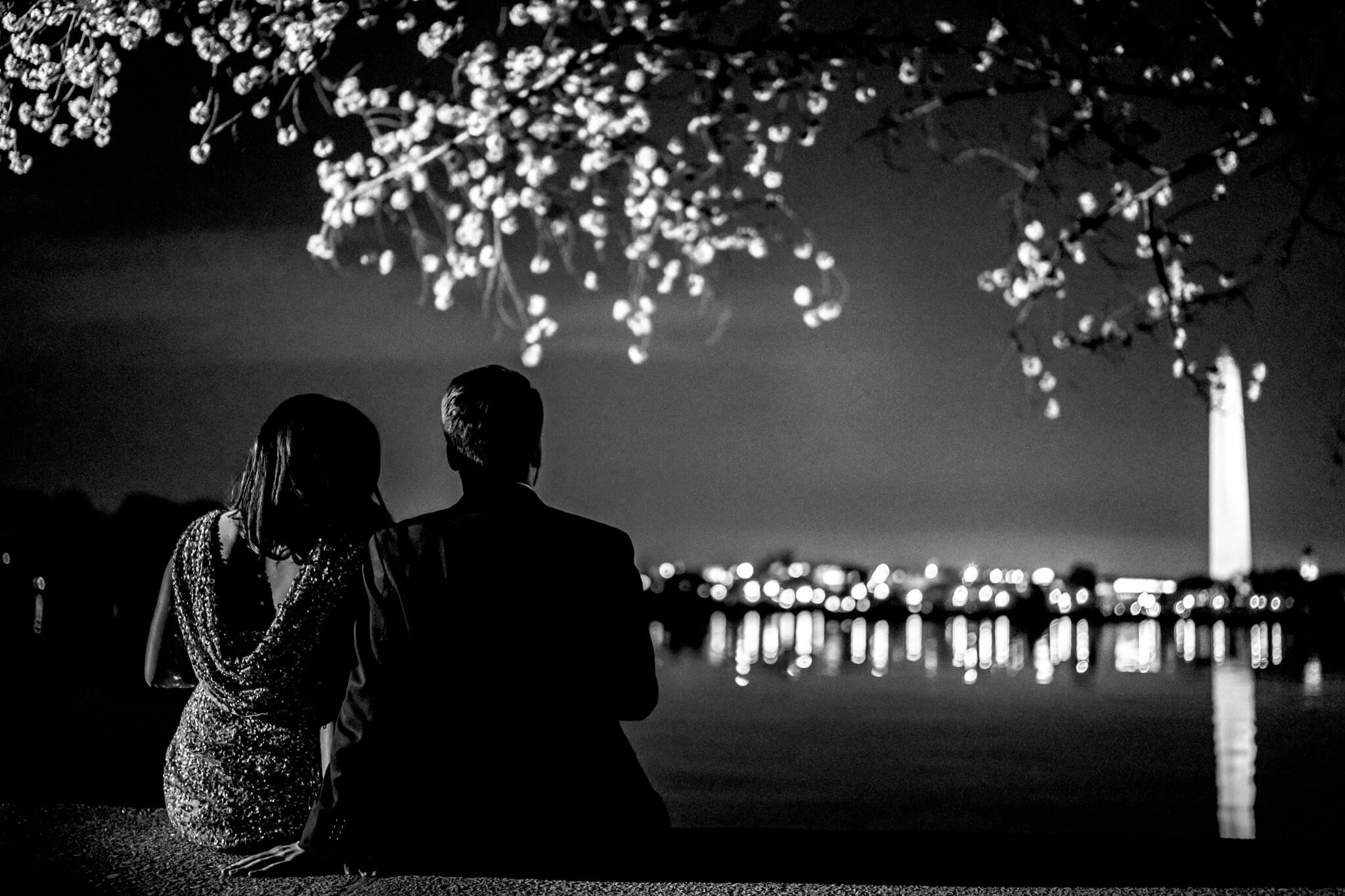 Danielle Michael DC Cherry Blossom Engagement Tidal Basin Washington Monument Engaged NYE Wedding Inspiration-11.jpg