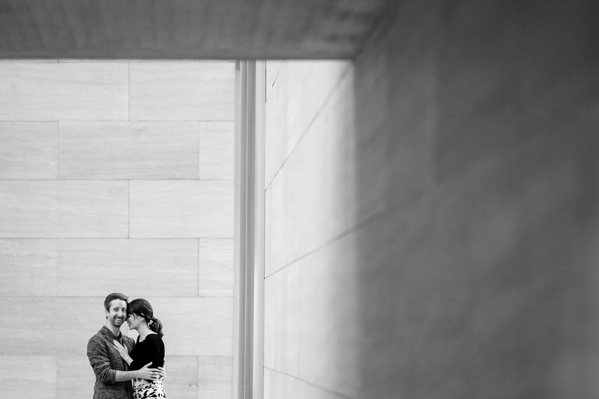 National Gallery of Art Engagement Creative Couple Washington DC Creative Portrait-1.jpg
