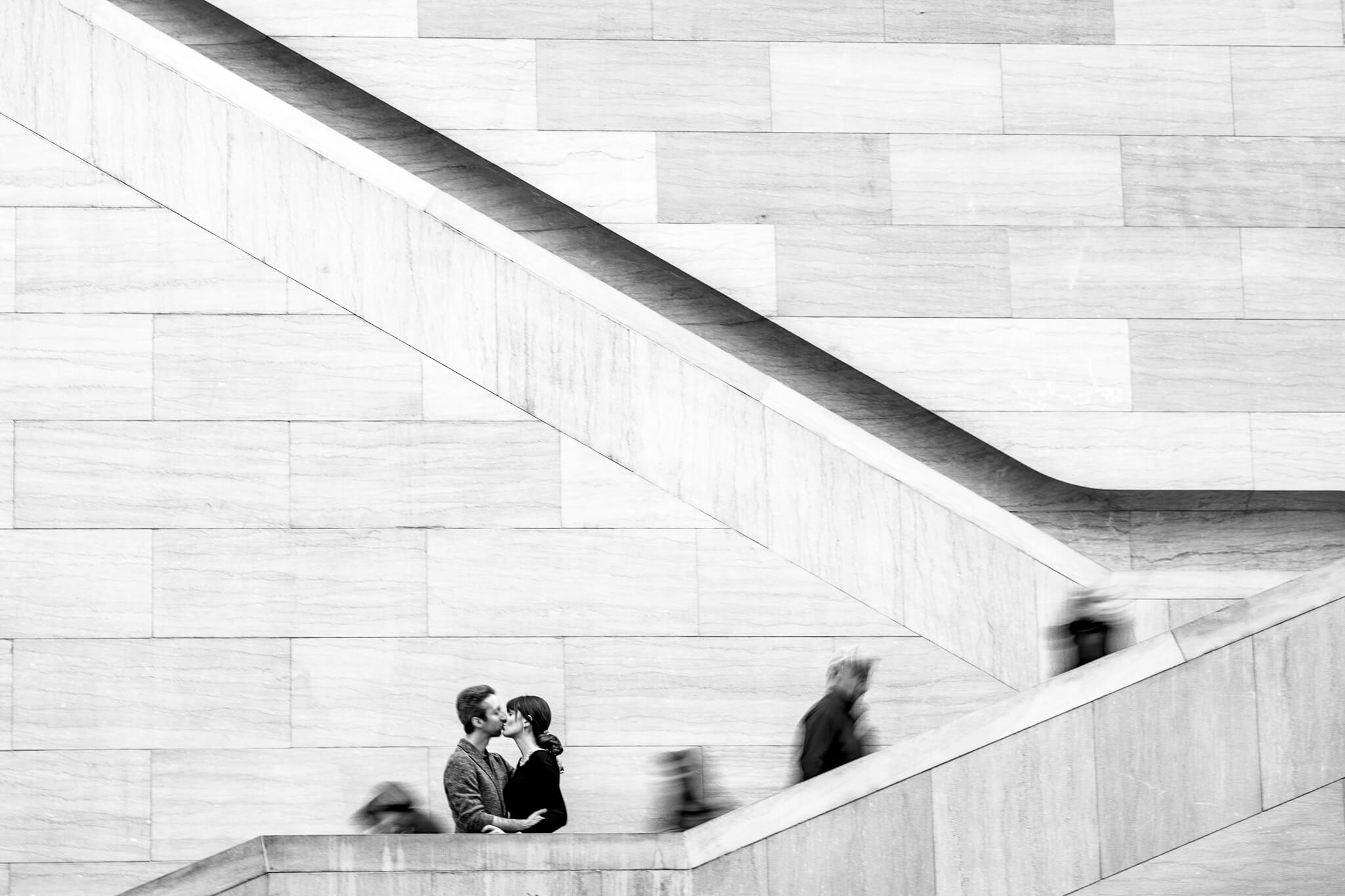National Gallery of Art Engagement Creative Couple Washington DC Creative Portrait-3.jpg