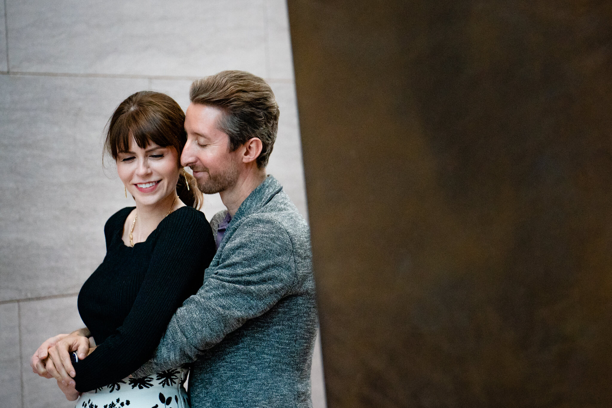 National Gallery of Art Engagement Creative Couple Washington DC Creative Portrait-5.jpg