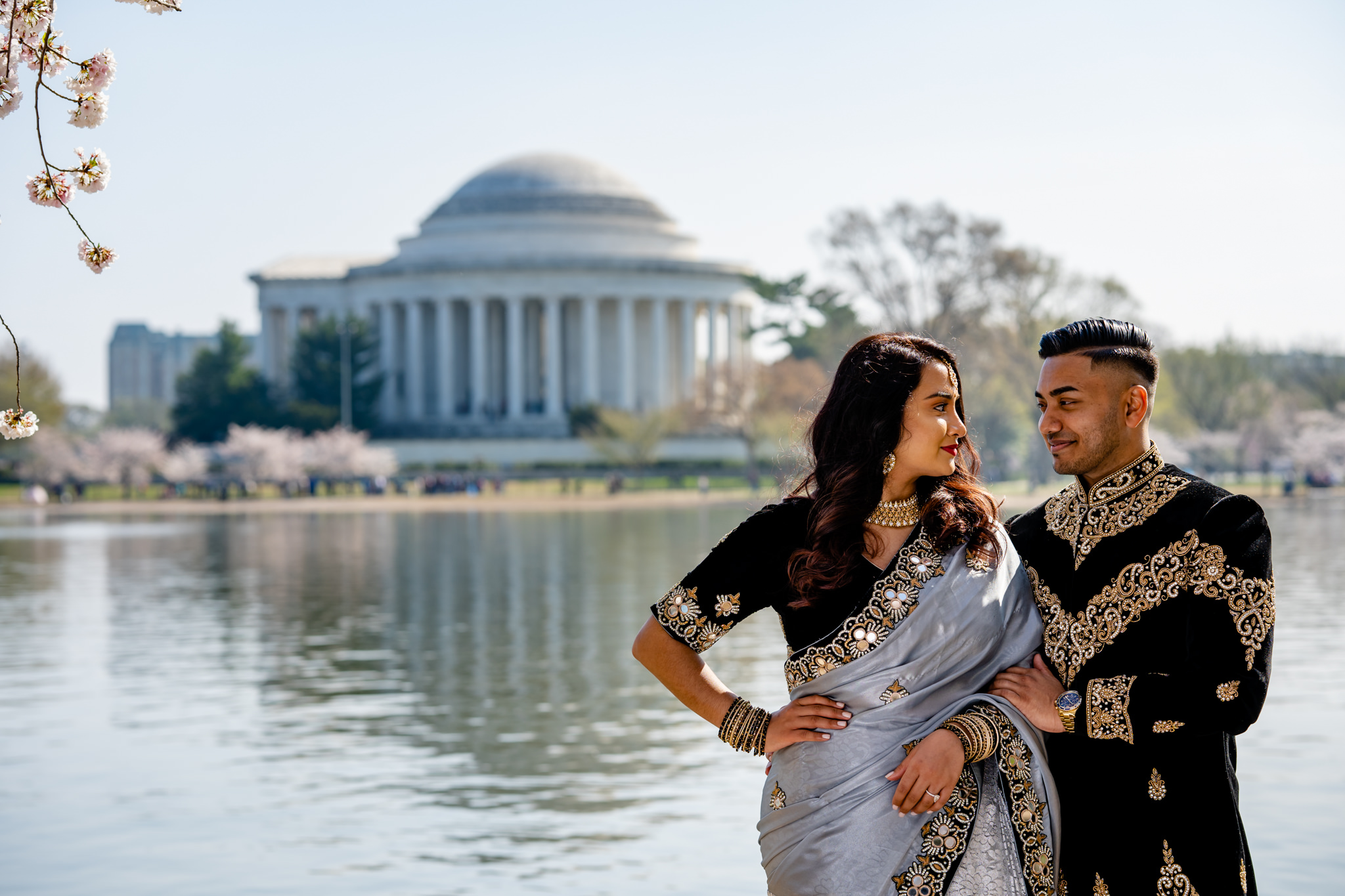 Cherry Blossom Festival Engagement Session Washington DC Tidal Basin Spring Portrait Session Photography by Bee Two Sweet-2.jpg