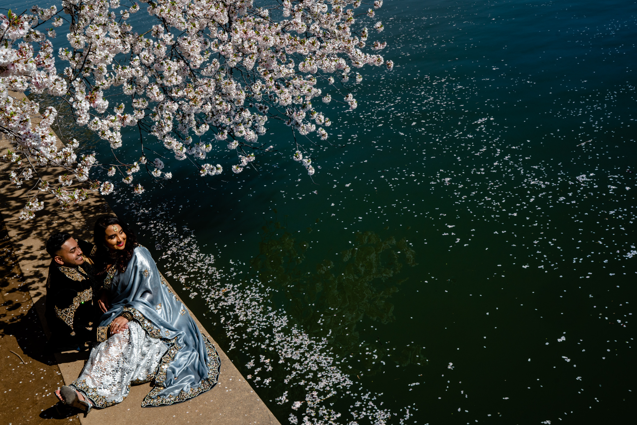 Cherry Blossom Festival Engagement Session Washington DC Tidal Basin Spring Portrait Session Photography by Bee Two Sweet-4.jpg