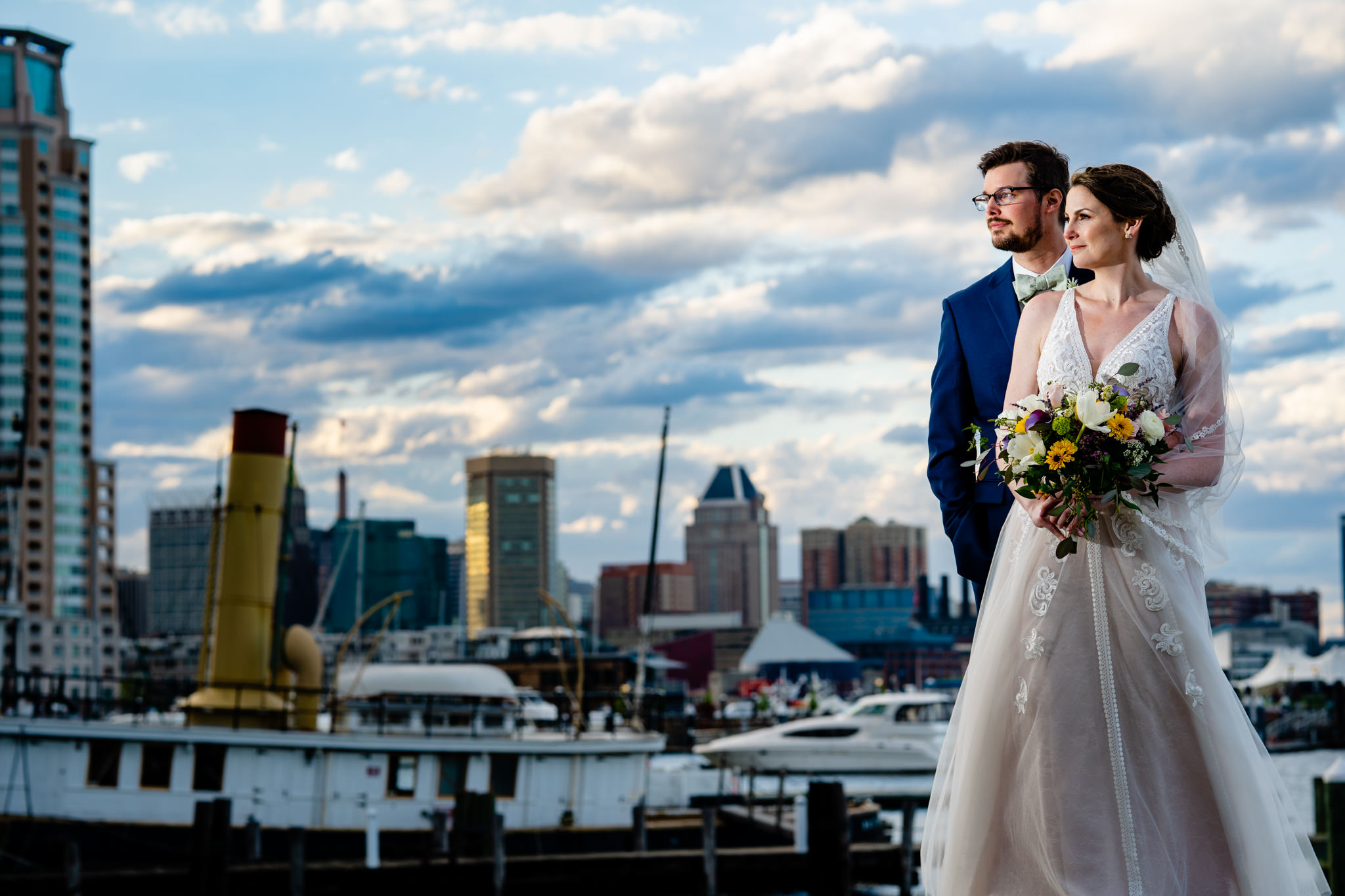 Baltimore Museum of Industry Spring Wedding Domino Sugar Sign Inner Harbor Photography by Bee Two Sweet-12.jpg