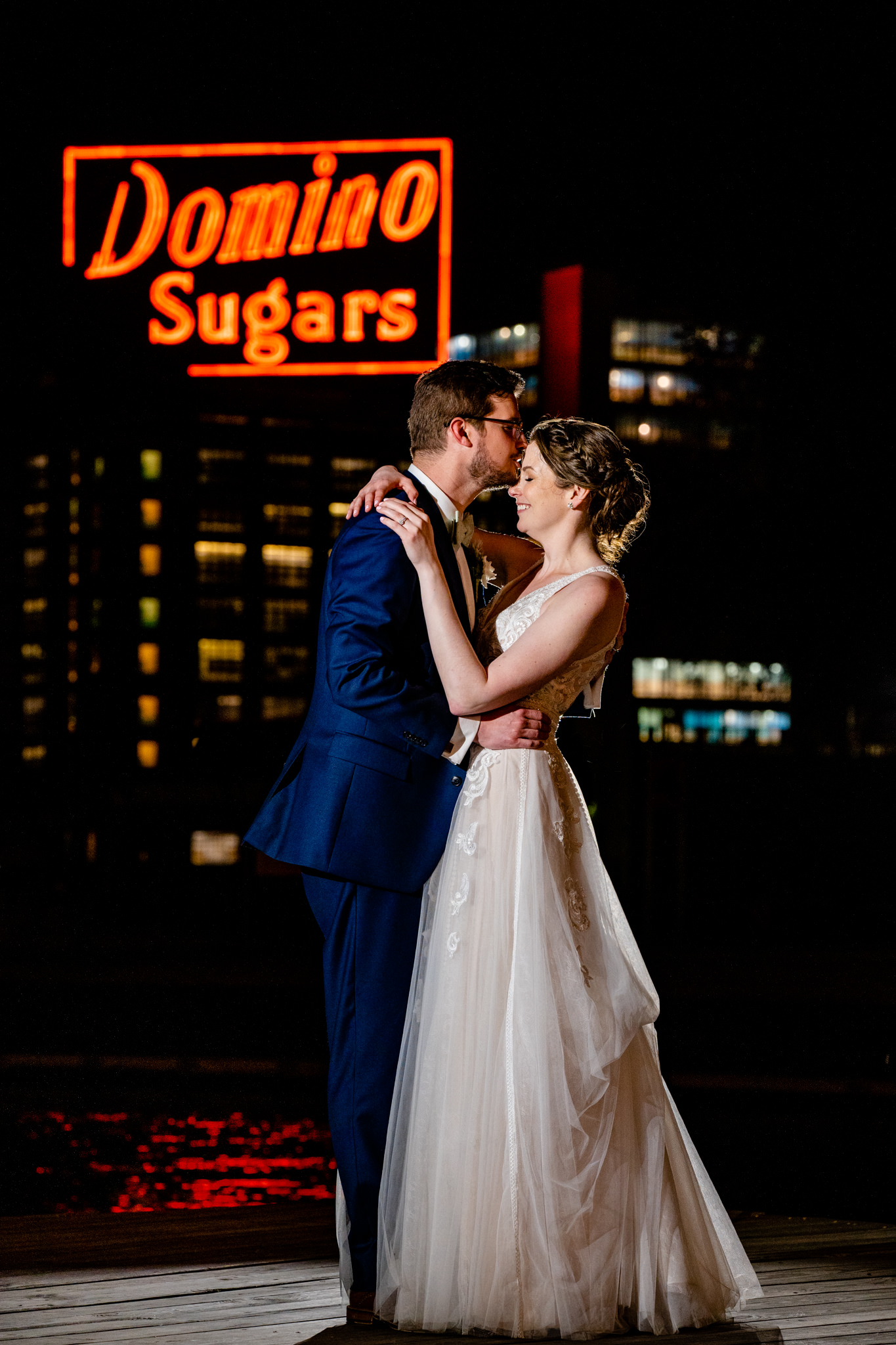 Baltimore Museum of Industry Spring Wedding Domino Sugar Sign Inner Harbor Photography by Bee Two Sweet-22.jpg