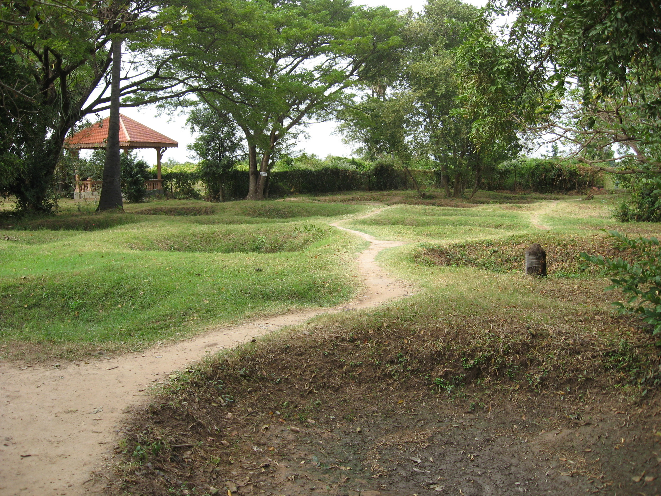 Mass graves at Choeung Ek, near Phnom Penh, Cambodia. Photo: Mary Marcussen, 2009.