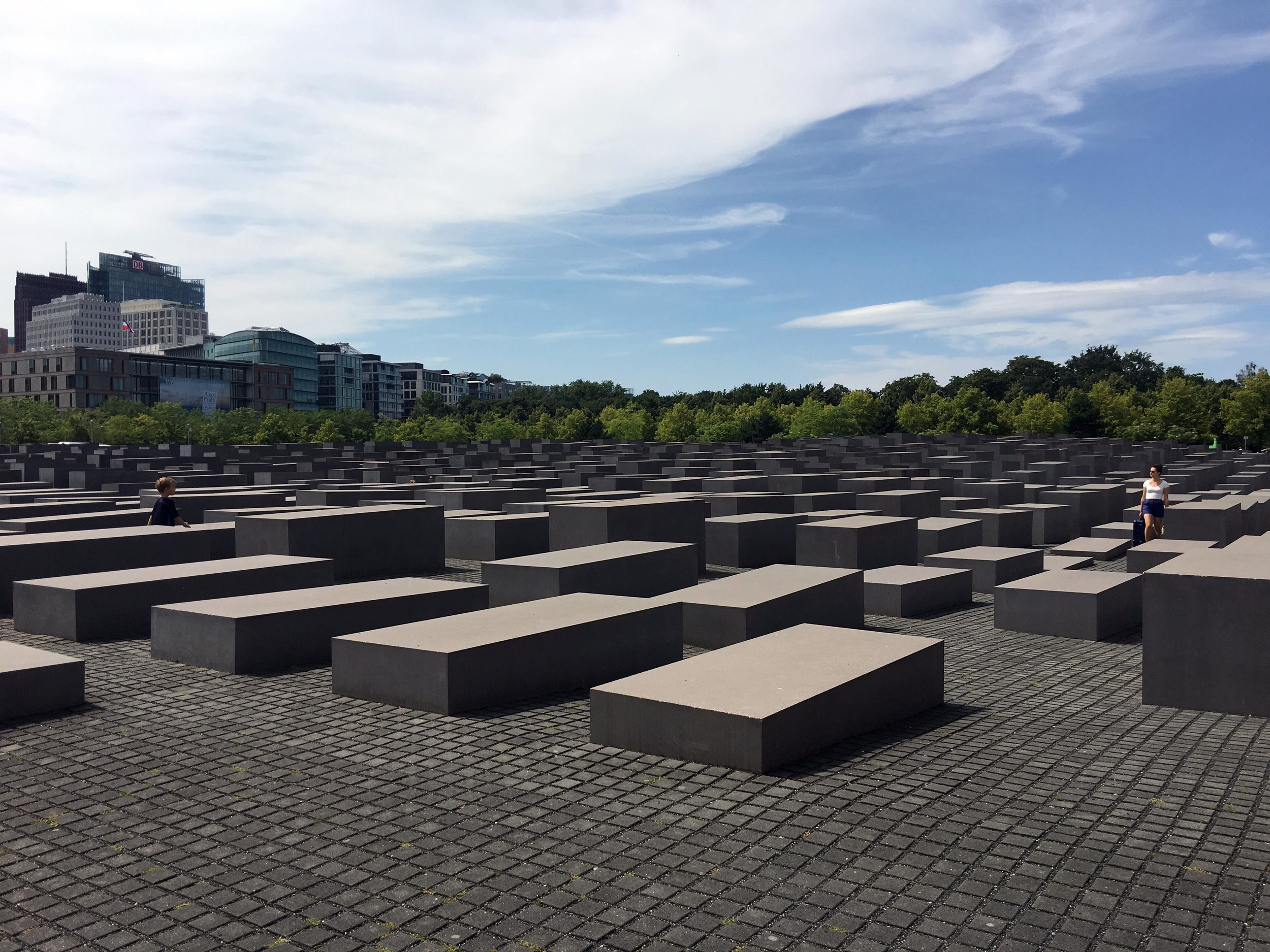 Memorial to the Murdered Jews, Berlin. Architect: Peter Eisenman. Photograph by Brook Andrew, October 2017.