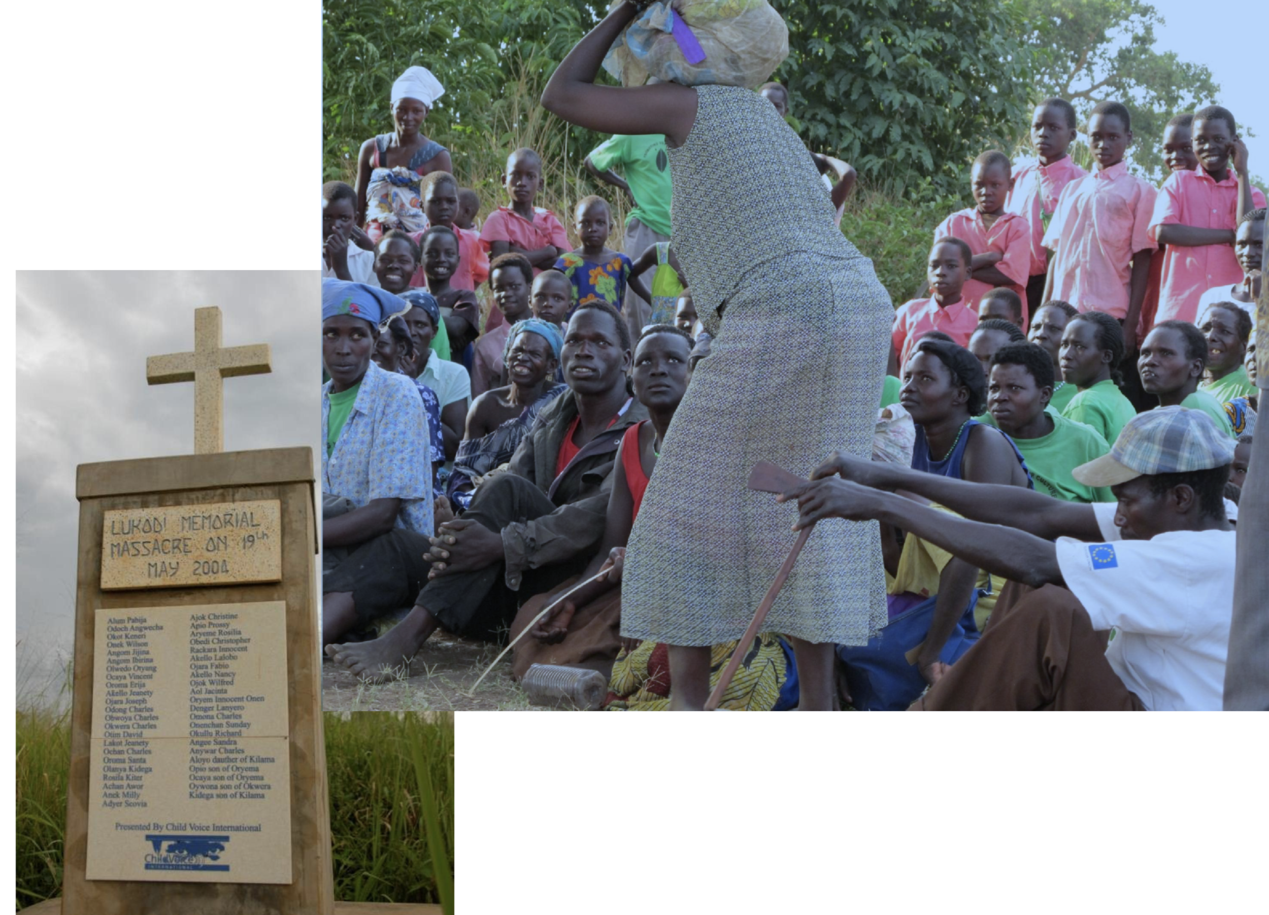 A healing ceremony for a massacre site in Uganda. Photo provided by Nelson Abiti.
