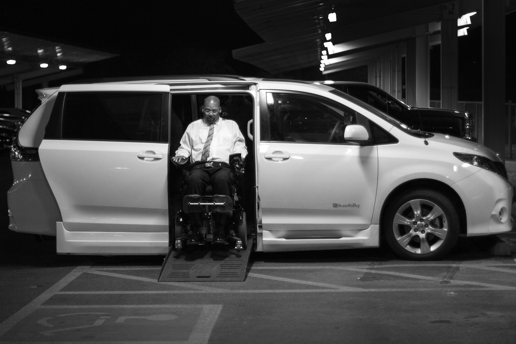 Studies have linked ALS to military service, so the U.S. Government provides equipment to veterans, such as Mike's motorized wheelchair and custom van.