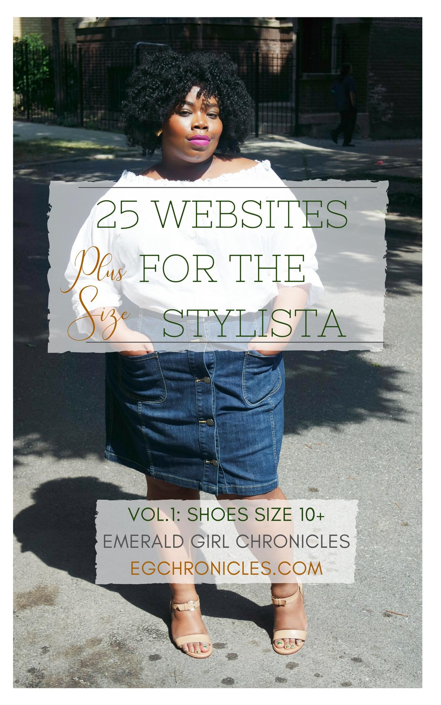 25 Plus Size Websites Vol.1 : Shoes Sz. 10+