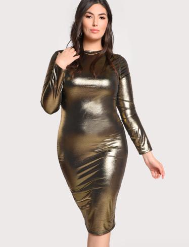 Gold foil dress