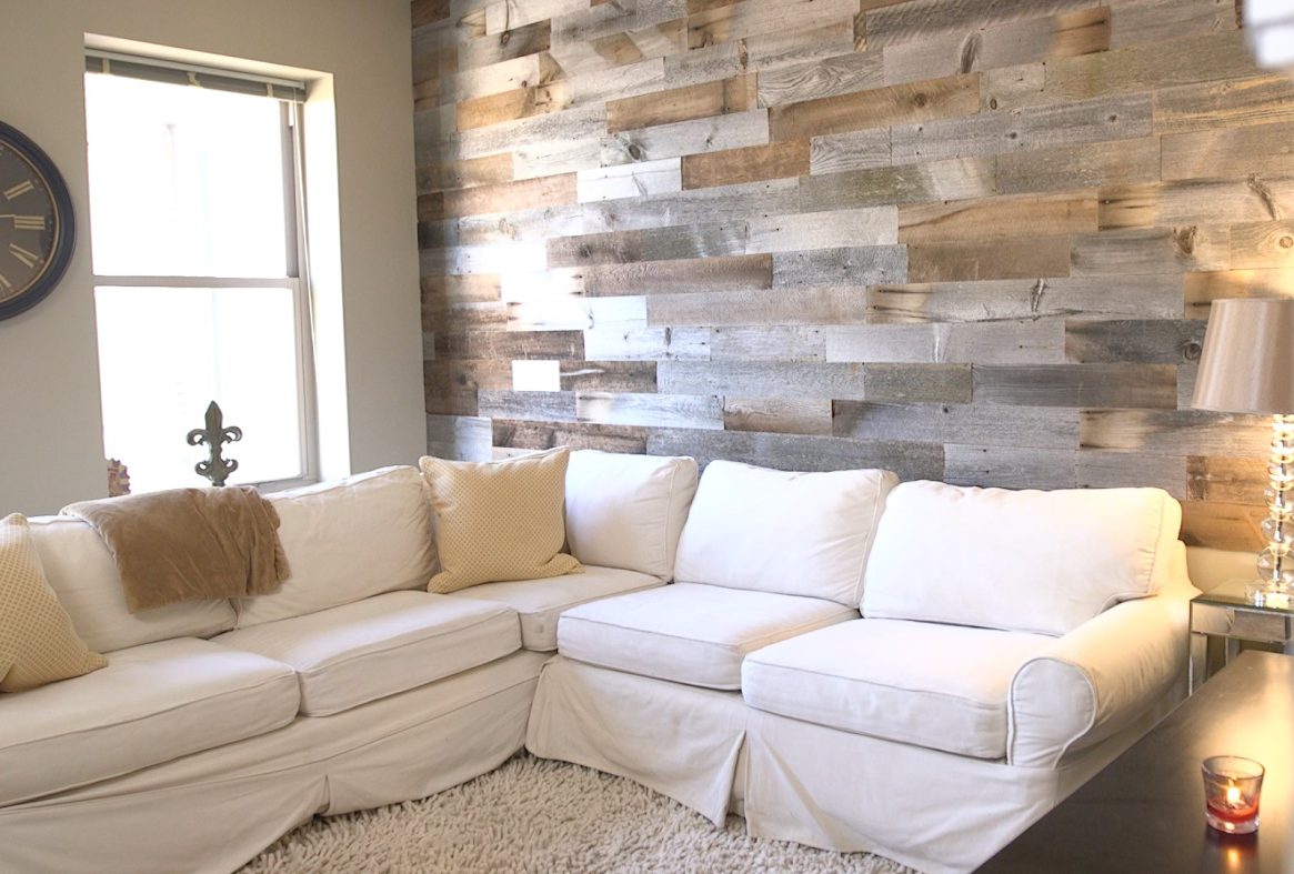 Innovative recycled siding can give any space a rustic barn look. [photo: Artis Wall]
