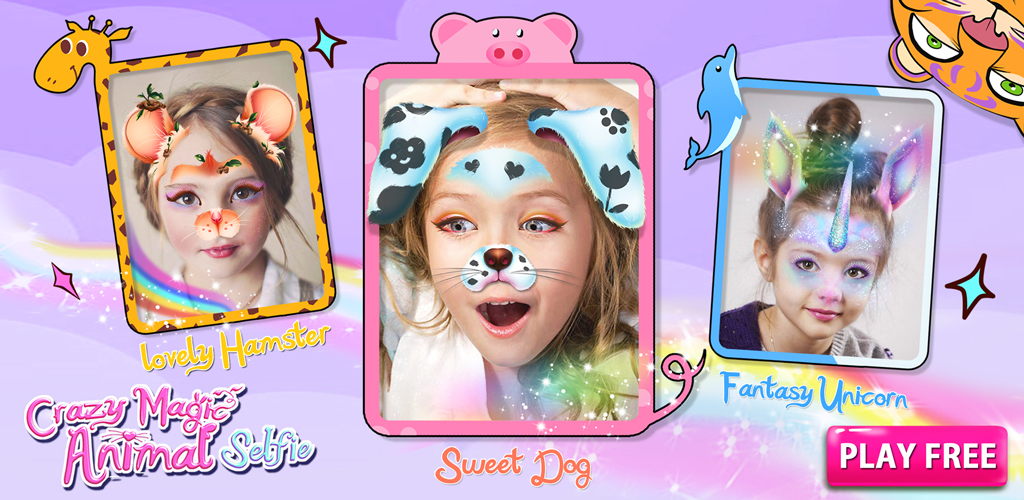 Crazy Animal Selfie Lenses  Just download this app, your phone/tablet will turn into a magic mirror! Try 40 + stunning crazy animal faces, enjoying instant makeover!