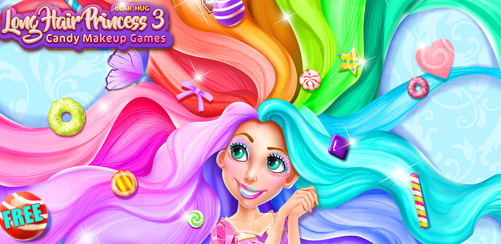 Long Hair Princess Candy Salon  This time, Long Hair Princess Juliet entered a magic candy kingdom! In the magic candy kingdom, all the castles and roads are made in candy!