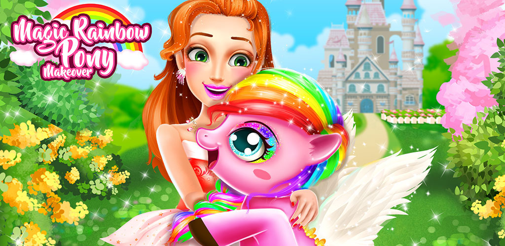 Rainbow Pony Makeover  Today is our princess birthday. All little girls birthday wish is to have a pony pet. Finally, today our princess birthday wish come true.