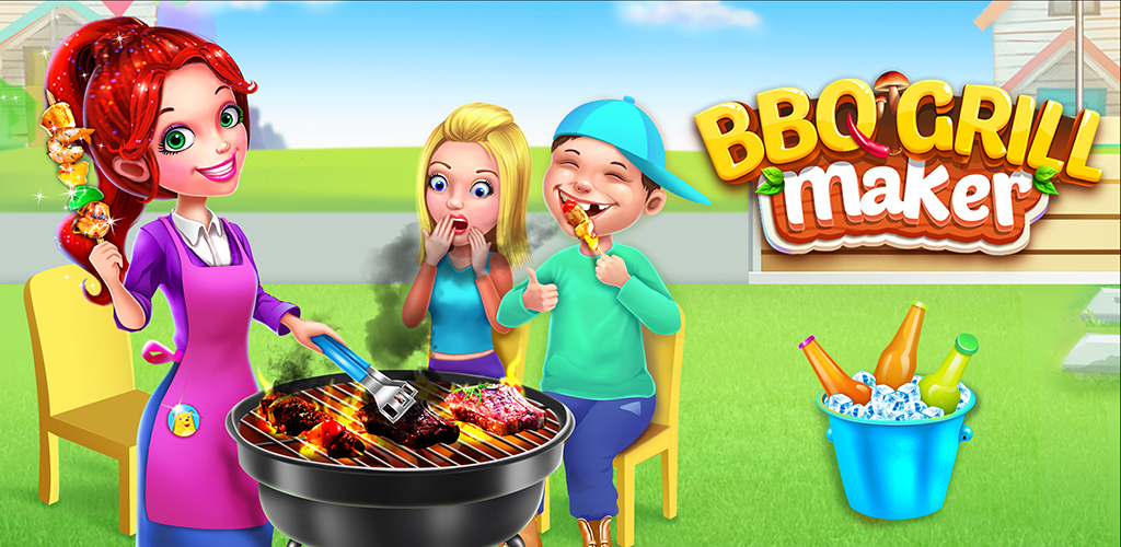 Kids BBQ Maker Super Grill Party!  BBQ party is one of the best outdoor activities to warm us in such cold winter! Join the cool kids in the backyard and host the most awesome barbecue party ever!