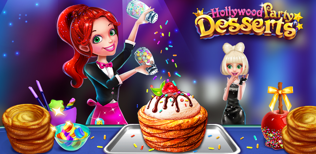 Hollywood Party Desserts Maker  The Hollywood party is tonight and lots of celebrities were invited to be present at this grand party!