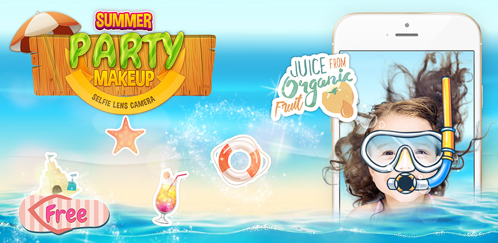 Summer Beach Selfie Lenses Cam  Create your own summer selfie style unlike any others using tons of filters and stickers specially made for GREAT summer days!