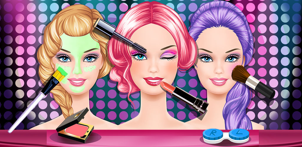 Beauty Salon2  Come and help these girls become the most beautiful fashion models. In this Beauty salon, you need give them a spa, make them up and dress them up!