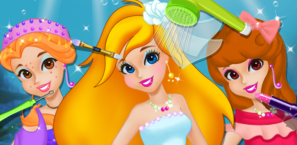 Mermaid Princess: Makeup Salon  Life under the sea is so much better! Join the littlest mermaid under the sea! Take this red headed mermaid to the Seaweed Salon and help her get ready for the Big Ball tonight!