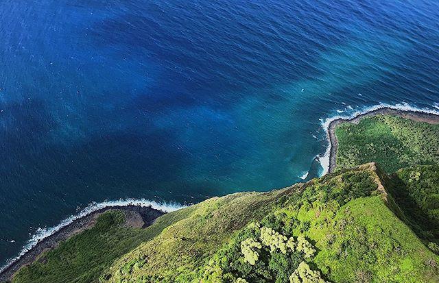 Aerial Shores 🏝🙃 #didntfall #shore #shorelines #ocean #island #maui #hawaii #aerial