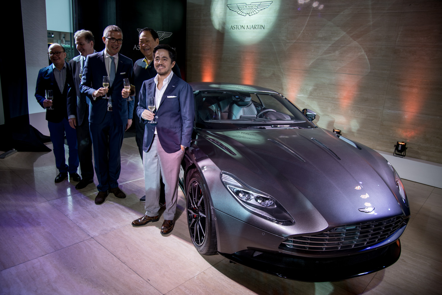 L-R: Nicky Mariano, Aston Martin Manila Managing Director, Mike Moon British Embassy Manila Director of Trade and Investment, Daniel Redpath Aston Martin Lagonda Senior Marketing and PR Manager, Wellington Soong Aston Martin Manila Director, and Marc Tagle Aston Martin Manila Chairman and President