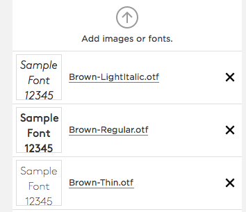 Adding custom fonts to squarespace