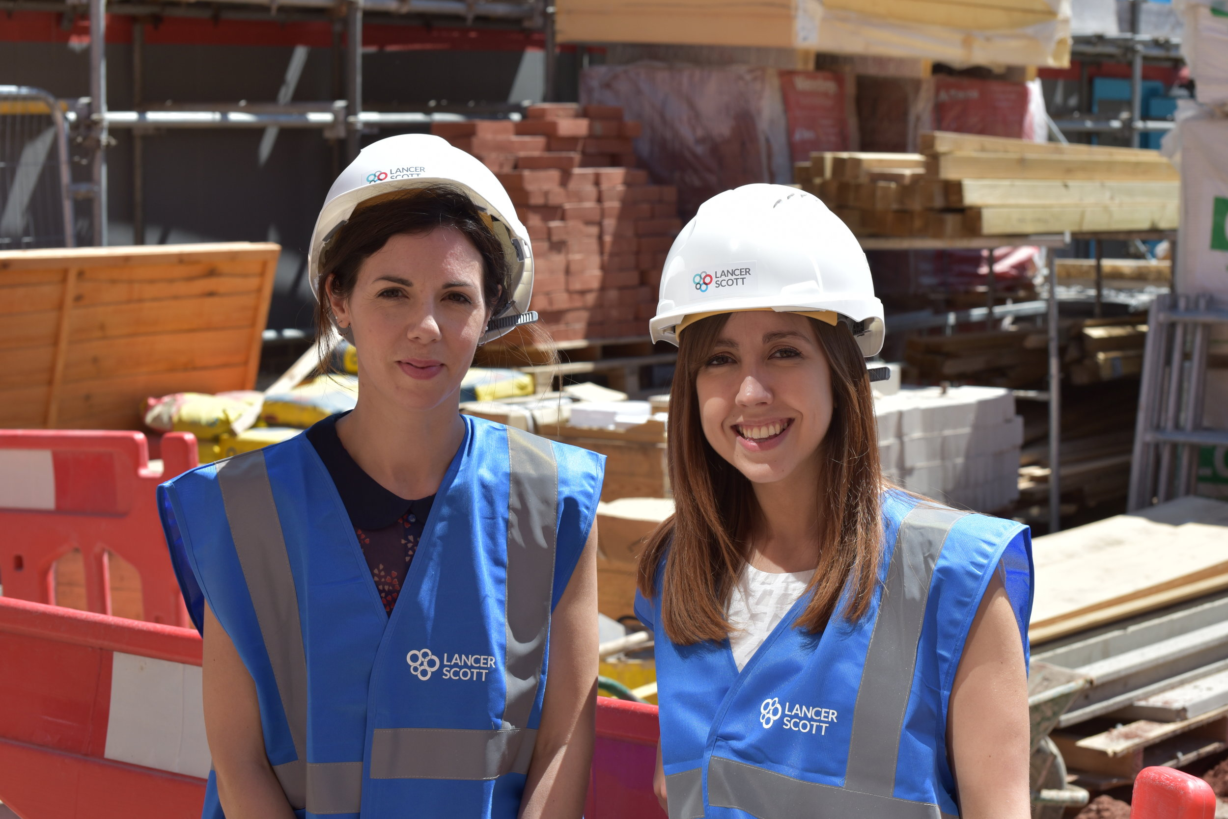 Natasha and Sophie on site